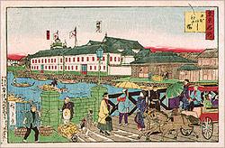 東京名所 日本ばしと江戸橋