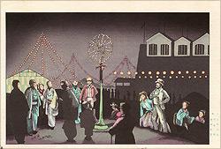 イルミネーション (明治十年勧業博覧会瓦斯館之図)