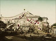 歌舞伎座株式会社開業式の様子