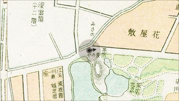 浅草公園之図 (明治40年当時)
