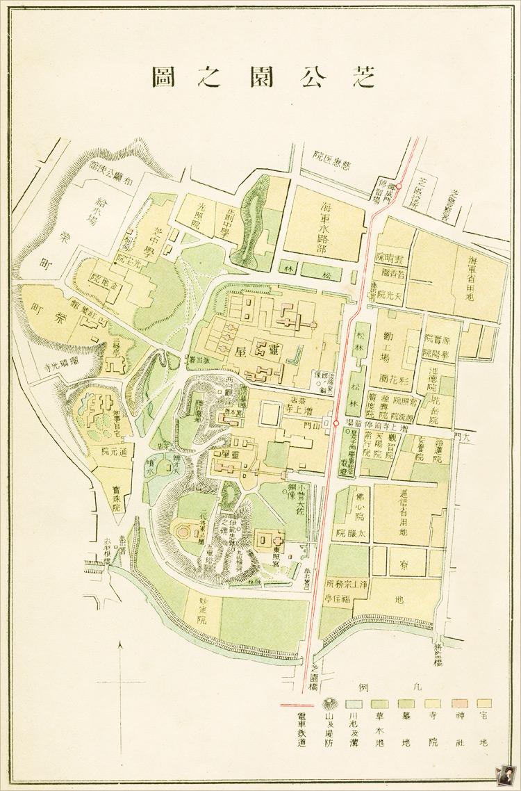 芝公園地図